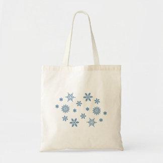 踊りの雪片の(青い)バッグ トートバッグ