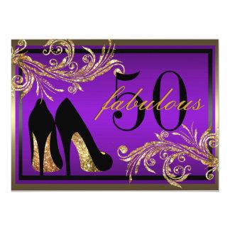 踊りの靴-すばらしい第50誕生日の招待状 カード
