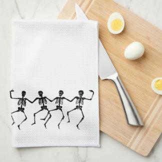 踊りの骨組タオル キッチンタオル