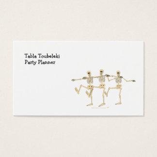踊りの骨組ハロウィンのおもしろいな漫画 名刺