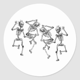 踊りの骨組 ラウンドシール