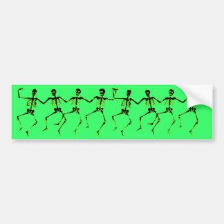 踊りの骨組、緑の白熱 バンパーステッカー
