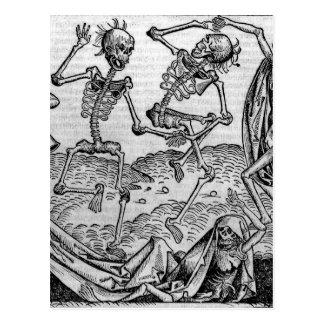 踊りの骨組、「Deathのダンス ポストカード
