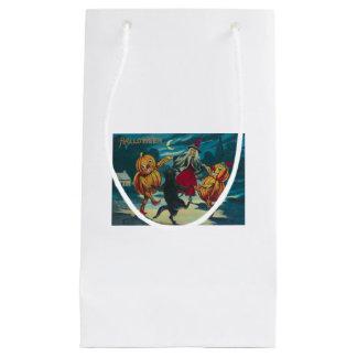 踊りの魔法使いのジャックOのランタンモンスターの黒猫 スモールペーパーバッグ
