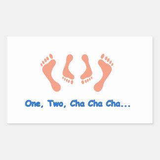 踊りのCha Chaの足 長方形シール