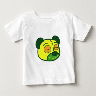 踊りのEmojiのパンダ ベビーTシャツ