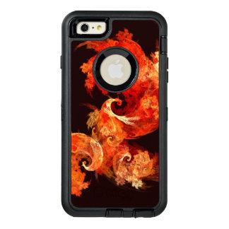 踊りのFirebirdsの抽象美術 オッターボックスディフェンダーiPhoneケース