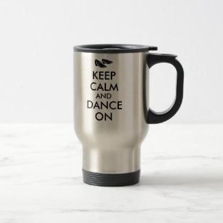 踊りはカスタマイズ可能に保ち、平静を踊ります蹄鉄を打ちます トラベルマグ