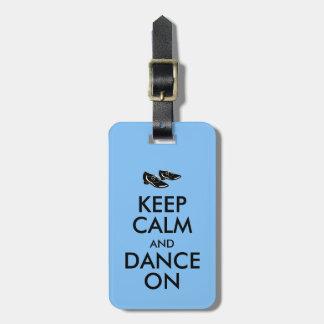 踊りはカスタマイズ可能に保ち、平静を踊ります蹄鉄を打ちます ラゲッジタグ