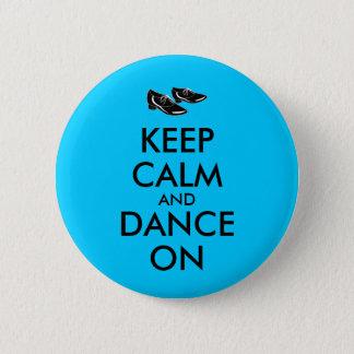 踊りはカスタマイズ可能に保ち、平静を踊ります蹄鉄を打ちます 5.7CM 丸型バッジ