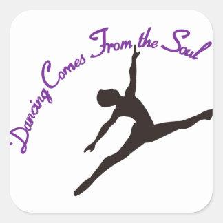 踊りは精神から来ます スクエアシール