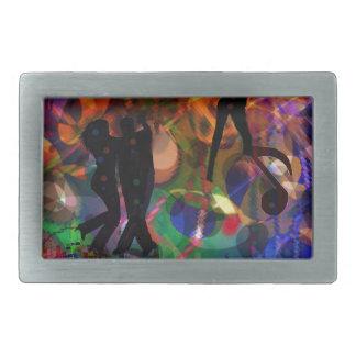 踊りライト、お祝いのパーティー 長方形ベルトバックル
