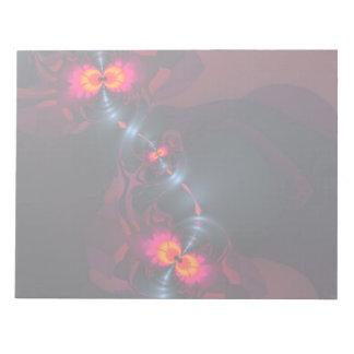 踊りDevas -バイオレット及びサケの視力 ノートパッド
