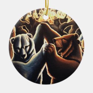 踊るくまのオーナメントのパーティー好きな人の記念品くま セラミックオーナメント