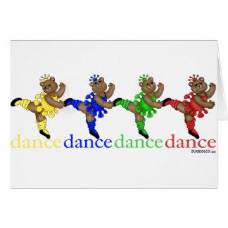 踊るくま カード