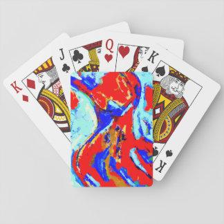 踊ることカードを遊びます トランプ