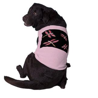 踊るピンクのトンボの芸術 ペット服