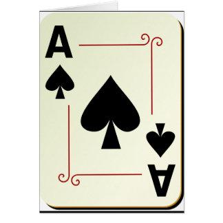 踏鋤メッセージカードのエース カード