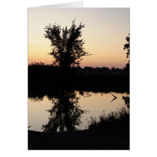 蹄鉄のくねりの日没 カード