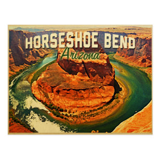 蹄鉄のくねりアリゾナ ポストカード