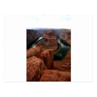 蹄鉄のくねり、コロラド川アリゾナ ポストカード