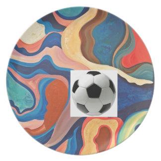 蹄鉄のサッカーボール プレート