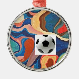 蹄鉄のサッカーボール メタルオーナメント