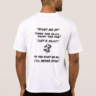 蹄鉄のスポーツTekの競争相手のTシャツ Tシャツ