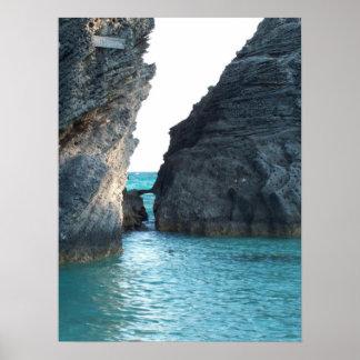 蹄鉄のビーチバミューダ島 ポスター