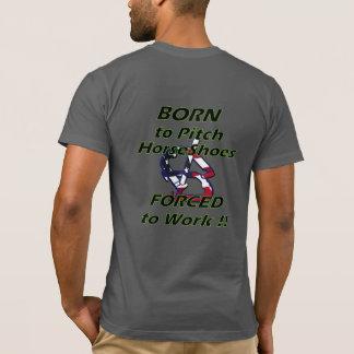 蹄鉄の基本的なアメリカの服装のTシャツ Tシャツ