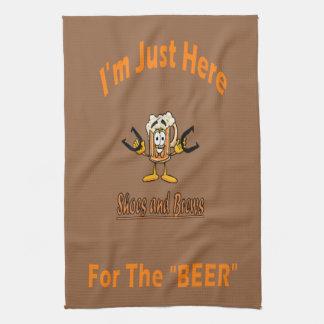 蹄鉄タオル-ここにビールのために キッチンタオル