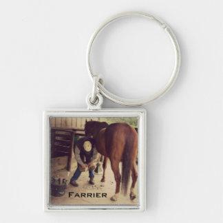 蹄鉄工-美しい馬の写真のひづめのトリム キーホルダー