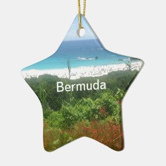 蹄鉄湾のビーチ、バミューダ島 セラミックオーナメント