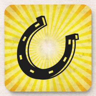 蹄鉄; 黄色 コースター