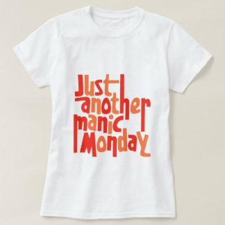 躁病の月曜日80sのレトロの大衆文化のタイポグラフィ tシャツ