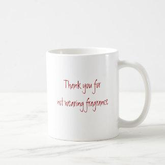 身に着けていない芳香をありがとう コーヒーマグカップ