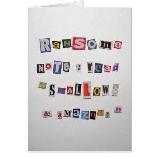 身代金スタイルの挨拶状 カード