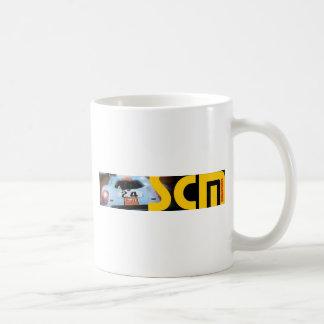 車とのScmの旗のロゴ コーヒーマグカップ