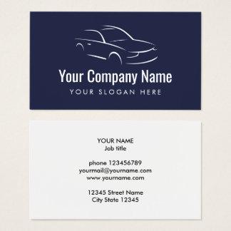車のな自動車メーカーのロゴの名刺のテンプレート 名刺