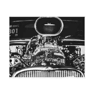 車のエンジン キャンバスプリント