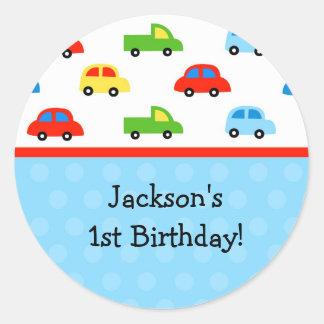 車のトラックの誕生会はステッカー感謝していしています ラウンドシール