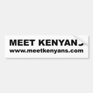 車のバンパーステッカー: 大会のケニア人 バンパーステッカー