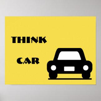 車のファンキーなA3ポスターを考えて下さい ポスター
