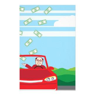 車のベクトルで落ちるお金 便箋