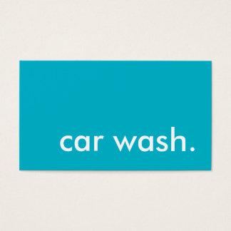 車のワシントン州のロイヤリティのパンチカード 名刺
