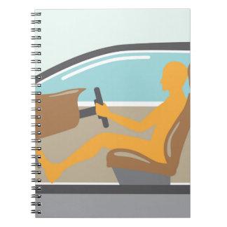 車の側面図人エアバッグ無し ノートブック