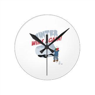 車の冬の勝利 ラウンド壁時計