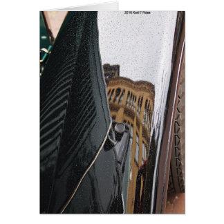 車の反射の挨拶状 カード