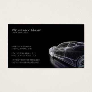 車の名刺のシンプルで黒いモデル 名刺