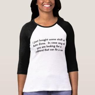 車の固定のガールフレンド Tシャツ